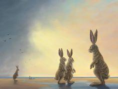 Robert Bissell - Contemporary fine art and prints Susan Wheeler, John Tenniel, Rabbit Life, Rabbit Art, Beatrix Potter, Iwo Jima Statue, Polar Bear On Ice, Dream Catcher Native American, The Embrace