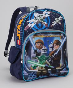 Take a look at this Navy LEGO Yoda Backpack on zulily today!