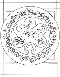 Ann Koffsky Passover Plate Coloring Page  sc 1 st  Pinterest & Paper Seder Plate | Easter School and Sunday school