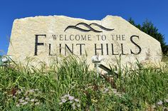These monuments have been installed along the interstates at each corner of the Flinthills.