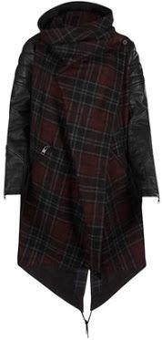 AllSaints leather sleeved parka via fashionbombdaily.com