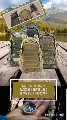 Tactical Military Backpack Camouflage Outdoor Rucksack Practical Pockets Premium Quality Hiking Camping Hunting. Looking for a sturdy and practical backpack to organize your essentials for your next outdoor adventure? If you're a nature enthusiast, you'll certainly need this modern military backpack! Unlike similar products on the market, this multipurpose outdoor backpack comes with a padded back and sturdy adjustable straps, providing a comfortable wear for anyone! Adventure Style, Adventure Travel, Anti Theft Backpack, Outdoor Backpacks, Backpack Travel Bag, Tactical Backpack, Cycling Workout, Camping Survival, Hiking Gear