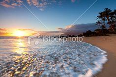 idylic maui coastline - hawaii, kihei Royalty Free Stock Photo