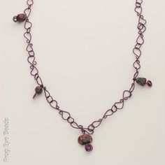 Exclusive Frog Eye Beads LLC. OOAK Handmade beads from the  Spring Garden Purple with hand turned wire links. New with tags! PP Trade. PICK UP ON… http://link.close5.com/m/8YUyVOTyUo