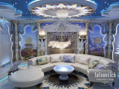 Villa Interior Design in Dubai, Luxury Residential Villas, Photo 24 I like the couch