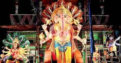 The practice of installing the Lord Ganesh idol started in1954. On this great occasion here we presented transformations of Khairatabad Ganesh Idol pics from 1954 to 2015. Have a look!