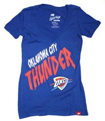 Oklahoma City Thunder Women's Stroke Vintage Super Soft V-Neck Tee - Blue $24.99 http://www.fansedge.com/Oklahoma-City-Thunder-Womens-Vintage-Super-Soft-Tee-_-1935697178_PD.html?social=pinterest_pfid32-43821