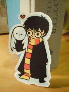 Harry and Hedwig sticker - koalateashop - Harry Potter