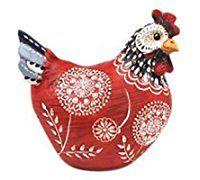 Poule en résine, Collection Deft, Modèle Rouge H 12 cm