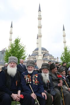 Chechen World War II veterans during celebrations on the 66th anniversary of victory in the Great Patriotic War