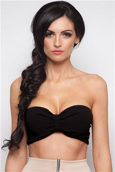 20516715352 Women Fashion Sexy Strapless Off Shoulder Ruched Front Stretch Solid  Bandeau Bra Tube Tops