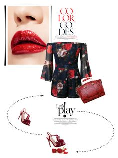 """Red"" by theitalianglam ❤ liked on Polyvore"