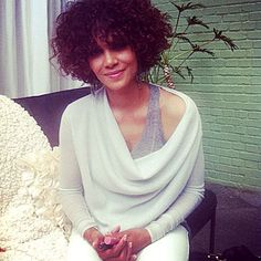 Halle Berry's Beauty Picks  The radiant actress held on tight to her Just Bitten Kissable Balm Stain in Honey at the Revlon ColorStay Whipped Crème Makeup launch. Berry's shade of choice from the soon-to-be released line? Caramel.