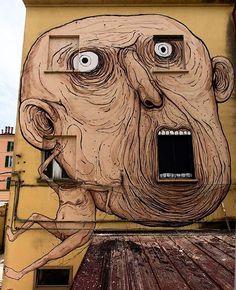 Street art by Nemo in Bologna, Italy