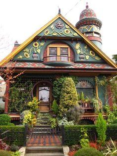 Настоящие сказочные домики….   Панель идей