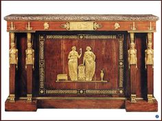 French Empire. Ormolu mounted mahogany side cabinet. c.1805.