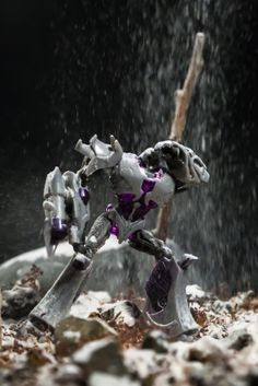 Megatron caught out in the snow.