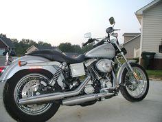 silver Harley Dyna Low Rider