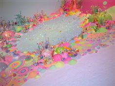 Beautiful designs made entirely from sugar and glitter at GOMA