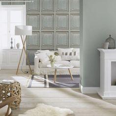 Rasch Wooden Door Pattern Wallpaper Faux Wood Effect Panel Textured 524413 Wooden Pattern, Panel Doors, Wooden Doors, Designer Wallpaper, Pattern Wallpaper, Design Trends, Accent Chairs, Lounge, Interior