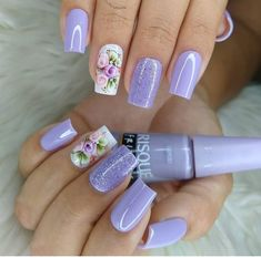 Manicure E Pedicure, Nail Trends, Nail Colors, Skin Care, Nails, Beauty, Instagram, Lilac Nails, Manicure Ideas