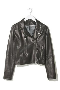 Soft Leather Biker Jacket by Boutique