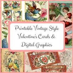 With the variety of printable vintage style Valentine's cards and digital graphics available, you can print your own special Valentines this year. Victorian Valentines, Vintage Valentine Cards, Valentine Day Cards, Valentine Theme, Little Valentine, Valentine Crafts, Printable Vintage, Printable Cards, Coin Envelopes