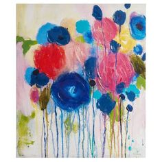 Hearts and Flowers Hand Embellished Canvas : Target
