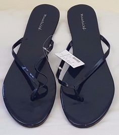 c170bdf927a5a Maurices Womens Sandals Shoes Flats Size 12 M Blue NEW 95594-Karoly Flip  Flops  Maurices  Flat