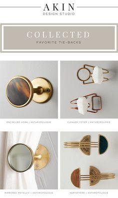 Akin Design Studio's Favorite Drapery Tie Backs