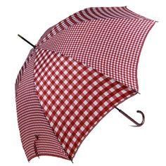 I just love gingham. Neiman Marcus Red and pink gingham, such classy and calming colours. Cute Umbrellas, Umbrellas Parasols, Rain Umbrella, Under My Umbrella, White Umbrella, Pink Gingham, Gingham Check, Red And Pink, Red And White