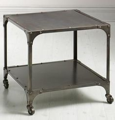 Industrial Louis End Table - not sure if this Home Decorators Collection place is decent or not. I like this table though.