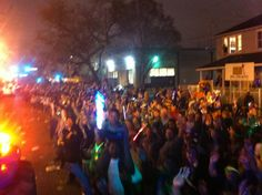 A pic from The Nuts ride in the 2013 Endymion Parade!
