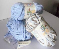 Items similar to Bernat Baby Blanket Super Bulky Blue Multicolor Yarn on Etsy Cheap Yarn, Bernat Baby Blanket, Trending Outfits, Children, Handmade Gifts, Blue, Vintage, Etsy, Young Children
