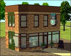 Storefront Set converted from the Sims 3 University - Amovitams Dream Town