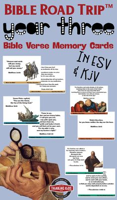 Bible Road Trip™️ Year Three Bible Verse Memory Cards