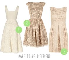 High street wedding dresses for the budget bride! :) Dare to be different dresses