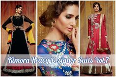 Royal designer salwar suit collection #Designer Celebrity wear floor length #anarkali salwar suit / #Salwar Kameez  Fabric : Pure Georgette salwar suit with embroidery work, Santoon salwar, Chiffon dupatta Form : Semi-stitch salwar suit   http://goo.gl/ZESG85