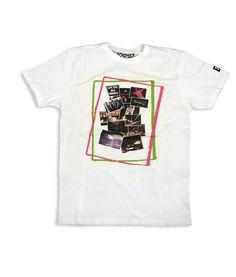 7f1250854b4f Κοντομάνικο T-shirt από 100% βαμβάκι σε λευκό χρώμα με μεγάλη εντυπωσιακή