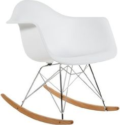 Charles Eames RAR Plastic Rocking Chair - White