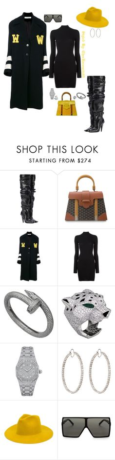 """Untitled #942"" by cherhorowitz95 ❤ liked on Polyvore featuring Tom Ford, Goyard, Off-White, adidas Originals, Chopard, Audemars Piguet, Irene Neuwirth, REINHARD PLANK and Yves Saint Laurent"