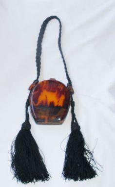 Art Deco Tortoise Celluloid Dance Purse Necessaire c1920 Visit My Store   eBay