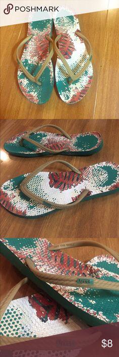 Vans flip flops Worn vans rubber flip flops, good condition Vans Shoes Sandals