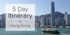 Hong Kong Harbour Clear Sky