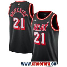0cfe158c8f71 NBA Miami Heat Jerseys · Men s Nike Miami Heat  21 Hassan Whiteside Black  NBA Swingman Hardwood Classics Jersey Hassan Whiteside