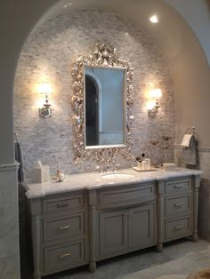 Linde Browning Design: silver leafed mirrors