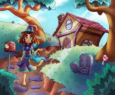 As the clock strikes six, Rose-Mary packs her things and begins her journey.  4rth illustration for the #MidsummerMagicMonth #MidsummerMagicMonth2020  #illustration #clipstudiopaint #digitalpainting #digitalart #girl #girldrawing #character #childrenstorybook #childrenbookillustration #storyart #storytelling #journey #drawing #fantasy Book Illustration, Digital Illustration, Illustrations, Kids Story Books, Storytelling, Digital Art, Mary, Clock, Journey