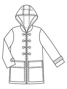 Burda Sewing Patterns, Drawing Clothes, Technical Drawing, Fabric Manipulation, Pattern Blocks, Parka, My Style, Capes, Nordstrom