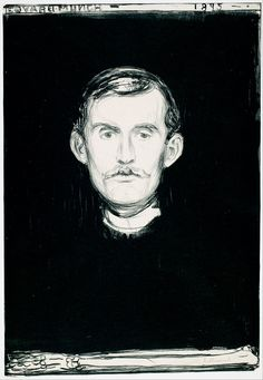Edvard Munch - Self-Portrait (1895) G0192-59 - Google Art Project - Edvard Munch - Wikipedia, the free encyclopedia