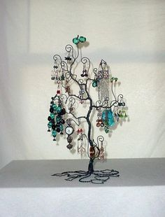 Jewelry Tree Display Stand Earring Necklace by claudinescloset